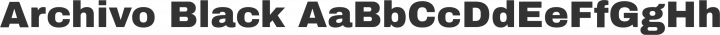 Archivo Black Regular free font