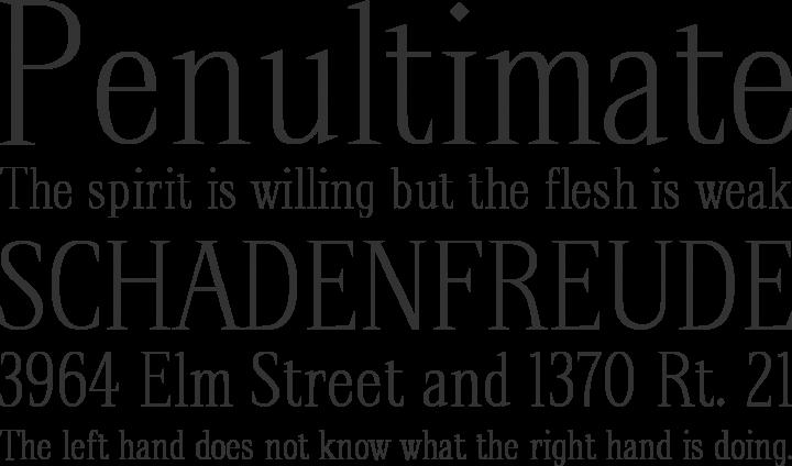 Spirequal Light Font Phrases