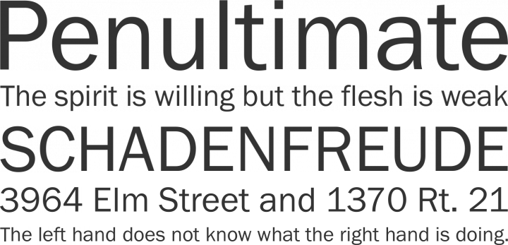 Franklin Gothic FS Font Phrases
