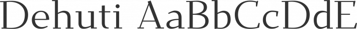 Dehuti font family by T. Christopher White
