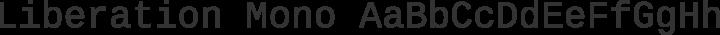 Liberation Mono Regular free font
