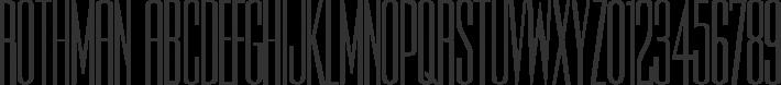Rothman font family by David Rakowski