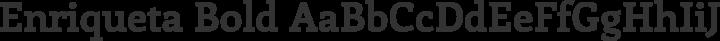 Enriqueta Bold free font