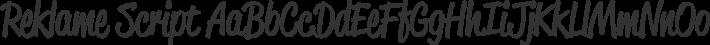 Reklame Script font family by HVD Fonts