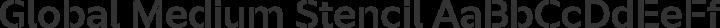 Global Medium Stencil free font