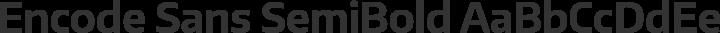 Encode Sans SemiBold free font