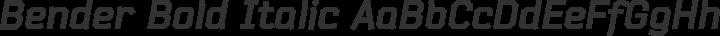 Bender Bold Italic free font