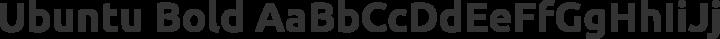 Ubuntu Bold free font