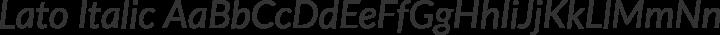 Lato Italic free font