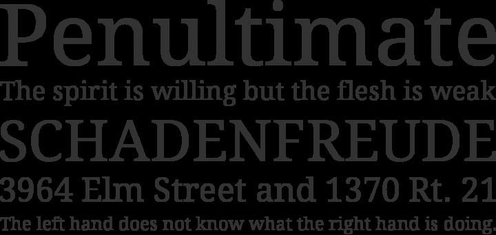 Droid Serif Font Phrases