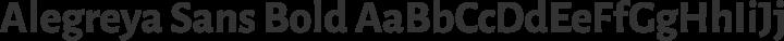 Alegreya Sans Bold free font