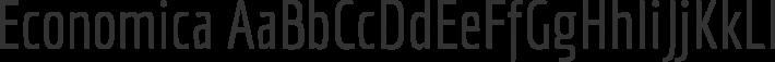 Economica font family by Vicente Lamónaca
