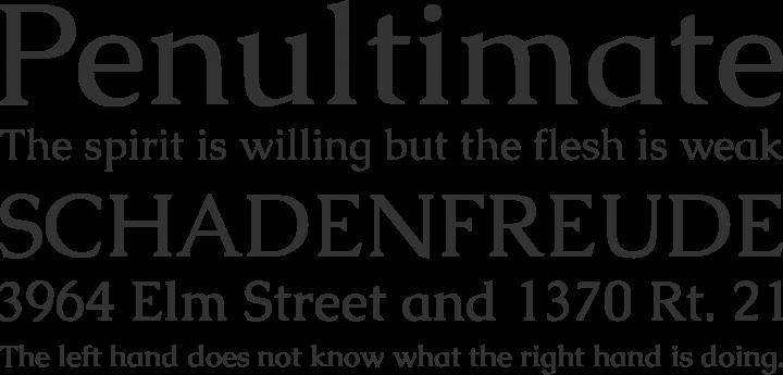Caudex Font Phrases