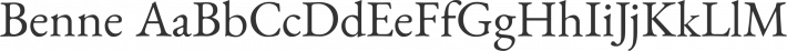 Benne font family by John Harrington