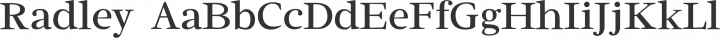 Radley Regular free font