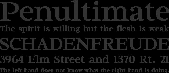 Radley Font Phrases