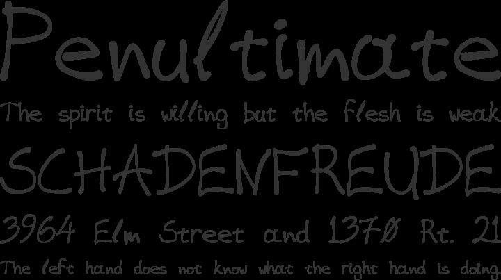 VAG-HandWritten Font Phrases