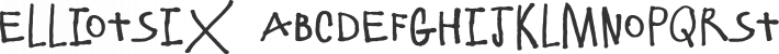 ElliotSix font family by Fonthead Design