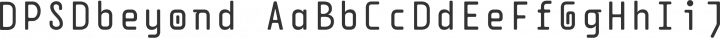 DPSDbeyond Regular free font