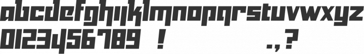 Yukarimobile Font Specimen