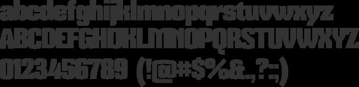 Mikodacs Font Specimen