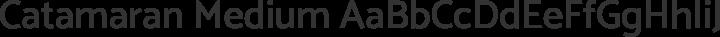 Catamaran Medium free font