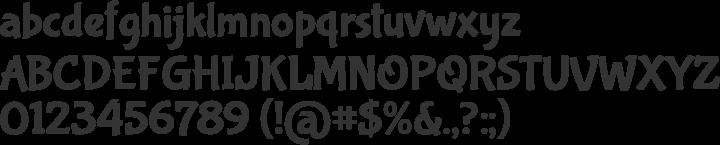 Bubblegum Sans Font Specimen