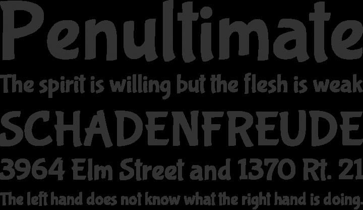 Bubblegum Sans Font Phrases