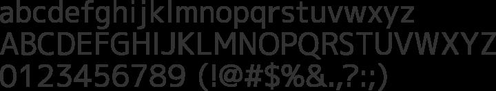 M+ 1c Font Specimen