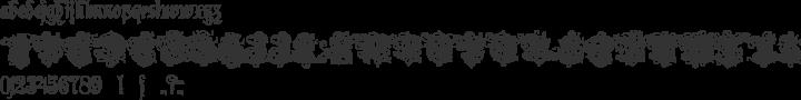 Rothenburg Decorative Font Specimen