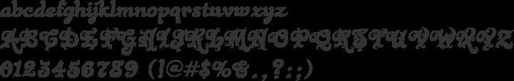 Black Rose Font Specimen