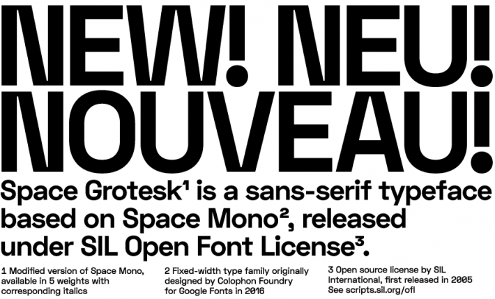 Space Grotesk Font Free by Florian Karsten » Font Squirrel