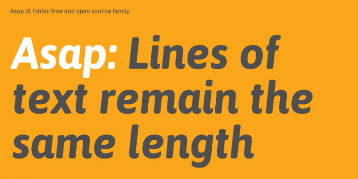 Asap Font Free by Omnibus Type » Font Squirrel